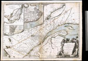 Nouvelle carte de la province de Québec selon la Proclamation royale du 7 octobre 1763.