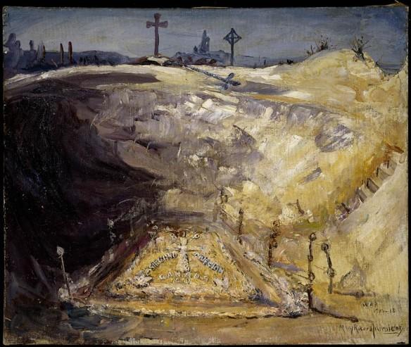 Monument commémoratif de la Deuxième division canadienne dans un cratère de mine près de Neuville Saint Vaast.
