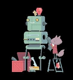 Une petite souris fabrique un robot