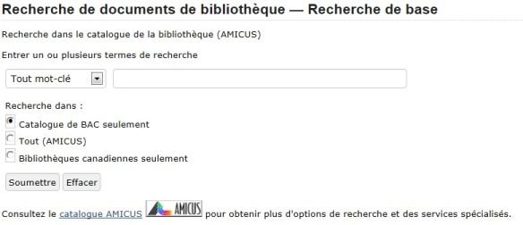 image en couleurs de la fonction Recherche de documents de bibliothèques dans la base de données de la recherche de documents de bibliothèques de Bibliothèque et Archives Canada.