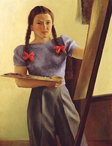 Autoportrait avec tresses