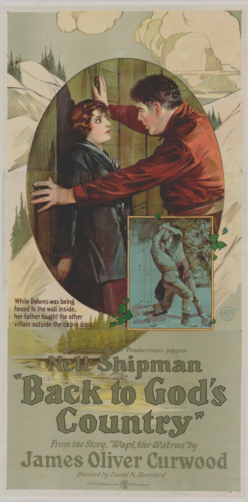 Affiche du film Back to God's Country (1919), le plus ancien long métrage canadien encore existant