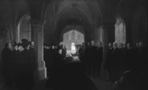 La reine Victoria rend hommage à son premier ministre décédé [Sir John Thompson], 13 décembre 1894, par Frederic Marlett Bell-Smith