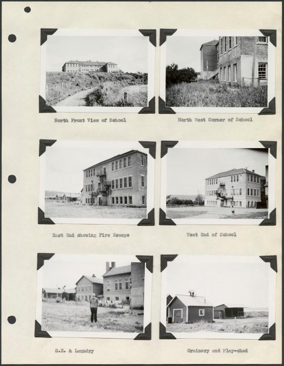 Page beige comprenant six photographies noir et blanc de divers édifices.