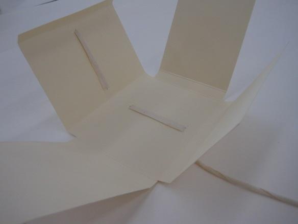 Photo en couleurs d'une pochette employée pour ranger des documents textuels.