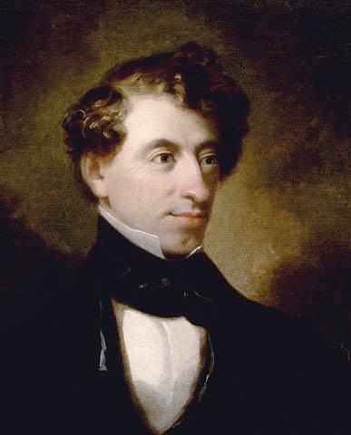 Image du premier portrait connu de sir John A. Macdonald, un portrait à l'huile de style romantique.