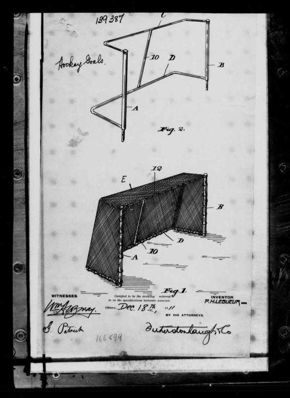 Reproduction en noir et blanc d'une illustration détaillée du filet d'un but, mesures comprises.
