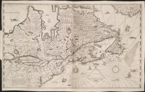 La dernière carte de Champlain, publiée en 1632, qui représente ce qu'il connaissait du territoire nord-américain de la côte atlantique, jusqu'à une partie des Grands Lacs, à l'ouest. La baie d'Hudson ainsi que plusieurs cours d'eau, montagnes, forêts, nations amérindiennes et établissements européens y figurent. Elle est aussi ornée de plusieurs dessins de navires, animaux et poissons et comprend une échelle et une rose des vents.