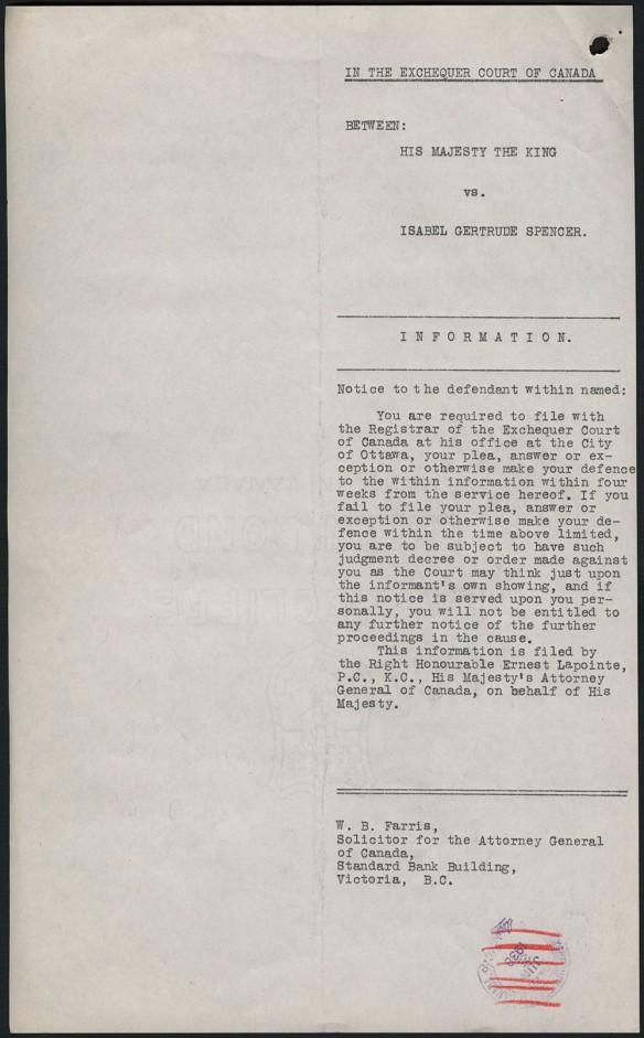 Page dactylographiée d'une requête concernant une expropriation.