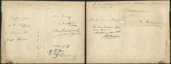 Deux pages comprenant les signatures des chanteurs d'opéra les plus réputés.