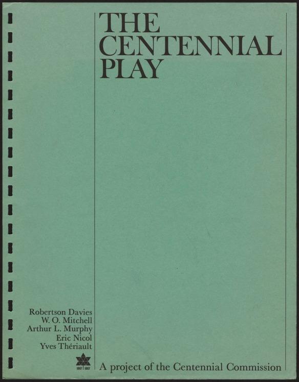 Une page dactylographiée avec le titre de la pièce et le nom des auteurs.