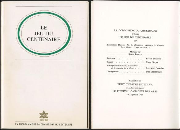 Document dactylographié avec titre, lieu de diffusion et date.