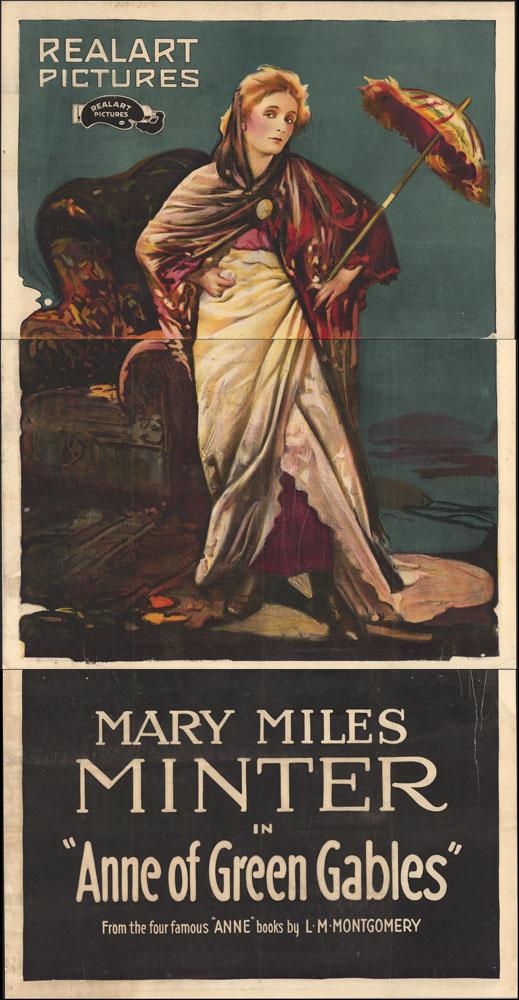 Épreuve colorée d'Anne portant une tenue habillée contre un fond vert. Elle tient un parasol rouge et jaune, et porte des bottes noires, une jupe rouge sous une superbe jupe de dessus blanche et un châle marron. Le logo de Realart Pictures est situé dans le coin supérieur gauche, avec le nom de l'actrice et le titre du film en bas.