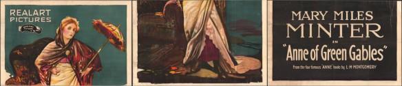 Trois sections distinctes de l'affiche ci-dessus. La première section montre la moitié supérieure du corps d'Anne; la seconde, la moitié inférieure de son corps; et la troisième, le nom de l'actrice et le titre du film.