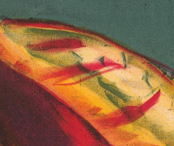Un détail des couleurs transparentes utilisé dans l'affiche.