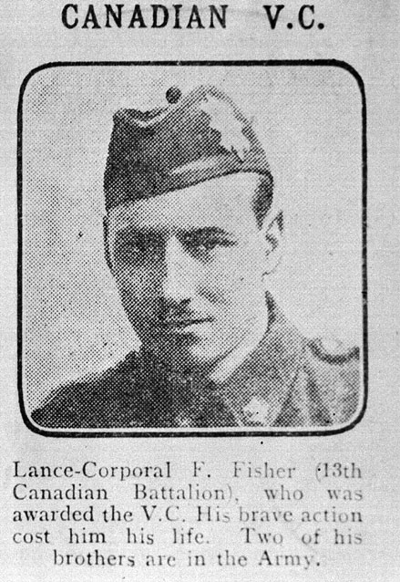Image en noir et blanc de Caporal suppléant F. Fisher.