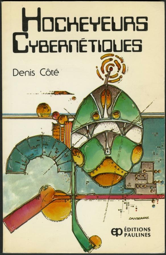 Couverture de livre dont l'illustration abstraite intègre un bâton de hockey.
