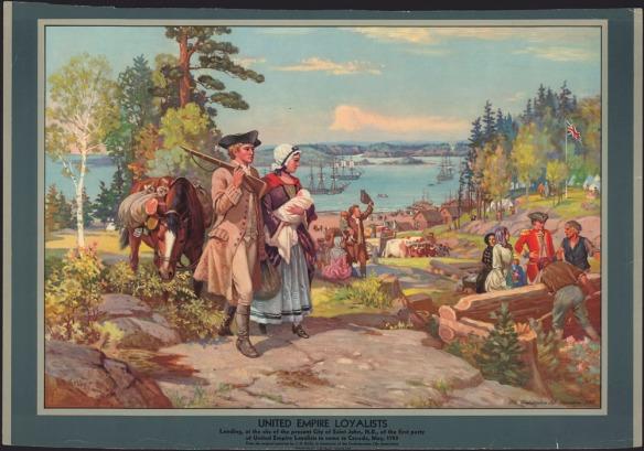 Une reproduction couleur d'un tableau de John David Kelly représentant un groupe de personnes, dont certains s'affairent à construire une maison.