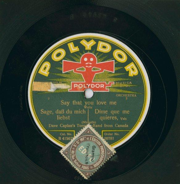 Photographie couleur d'une pochette d'album de Polydor.