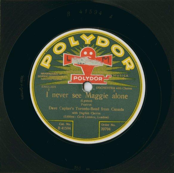 Photographie couleur d'une pochette d'album de Polydor