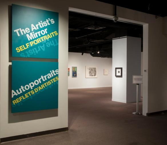 Photo couleur de l'entrée de l'exposition au musée Glenbow.