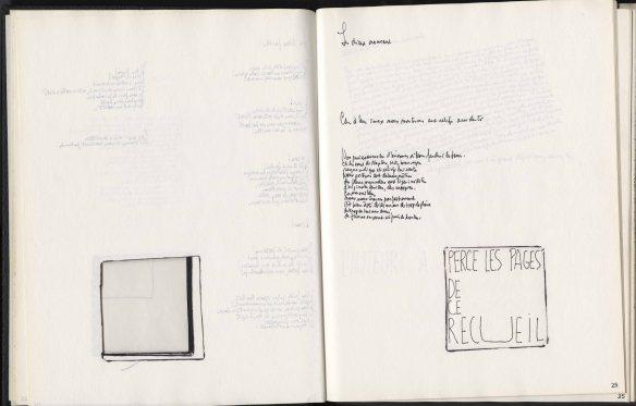 Images de deux pages du livre de Normand Chaurette Œuvres complètes. Tome I.