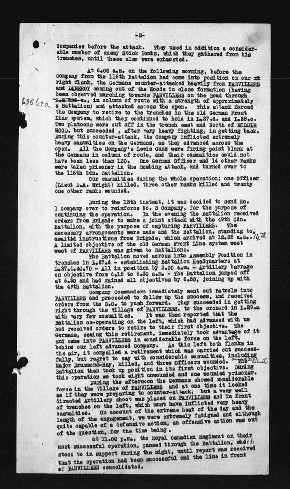 Une page d'un document textuel avec, à gauche, des trous de poinçon déchirés.