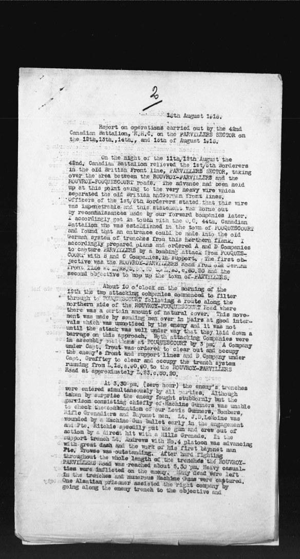 Copie noir et blanc d'un document textuel comprenant quatre paragraphes ainsi que le chiffre « 2 » inscrit à la main en haut de la page.