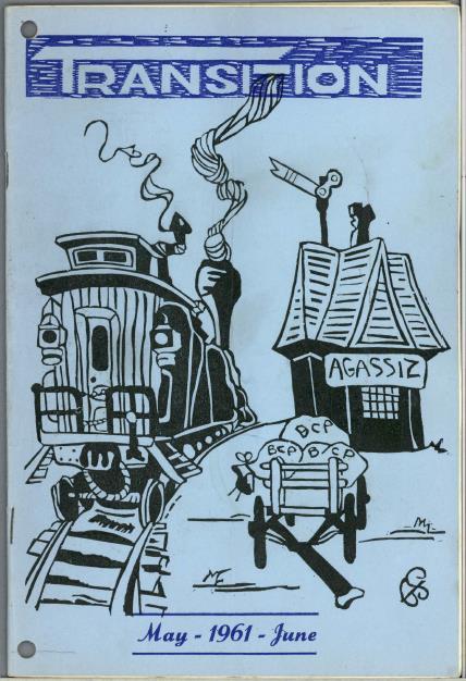 Illustration de couverture représentant une locomotive et un fourgon d'époque, une gare sur laquelle un écriteau indique « Agassiz », et un chariot rempli de sacs de courrier portant les lettres « BCP » (pour British Columbia Penitentiary, ou pénitencier de la Colombie-Britannique).