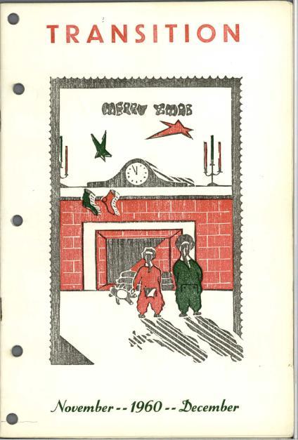 Illustration de couverture portant le titre « Merry Xmas » [« Joyeux Noël »] et montrant deux enfants en pyjama, debout devant une cheminée où sont accrochés des bas de Noël.
