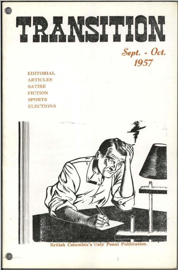 Illustration de couverture montrant un homme assis à un bureau, en train d'écrire une lettre, la tête appuyée sur une de ses mains qui tient une cigarette.