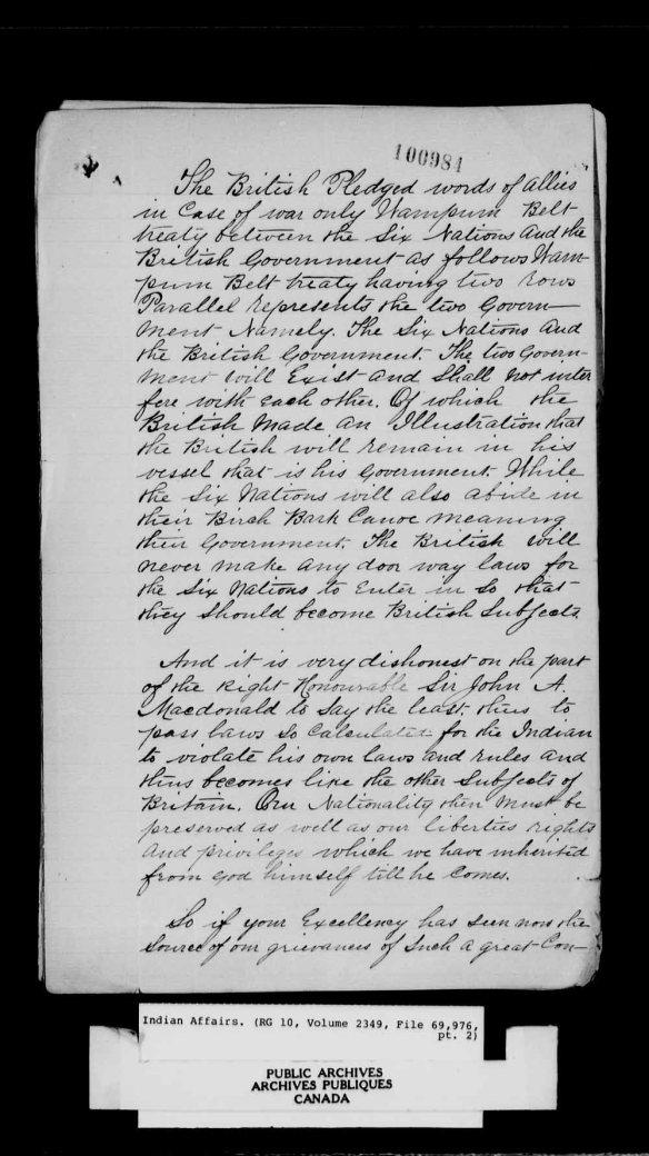 Reproduction noir et blanc d'une pétition manuscrite adressée à Son Excellence le très honorable lord Stanley, gouverneur général du Dominion du Canada.