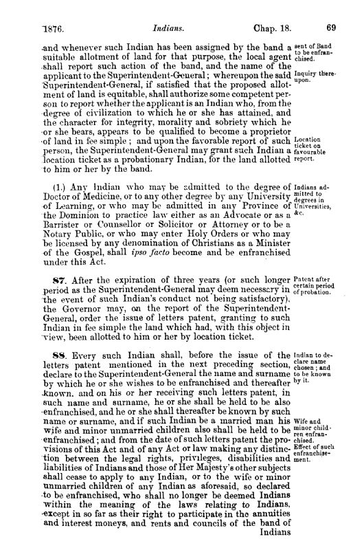 Page dactylographiée en noir et blanc tirée du texte d'une loi.