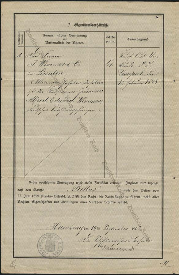 Document dactylographié et manuscrit écrit en allemand.
