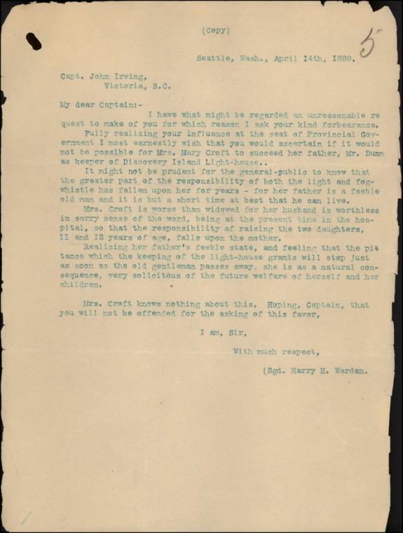 Texte dactylographié bleu sur du papier à lettres blanc cassé.