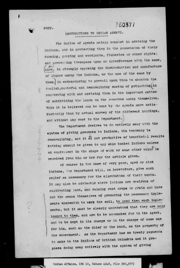 Page d'une lettre dactylographiée comprenant quelques annotations manuscrites.